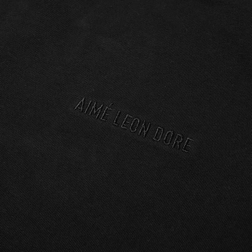 Aimé Leon Dore Logo Long Sleeve Tee - Black