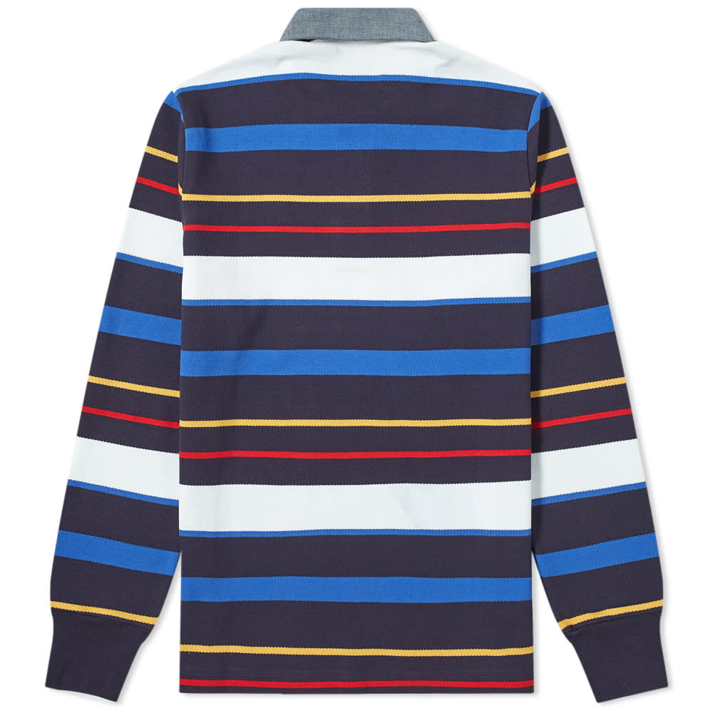 Aimé Leon Dore Long Sleeve Pique Stripe Polo - Amparo Multi