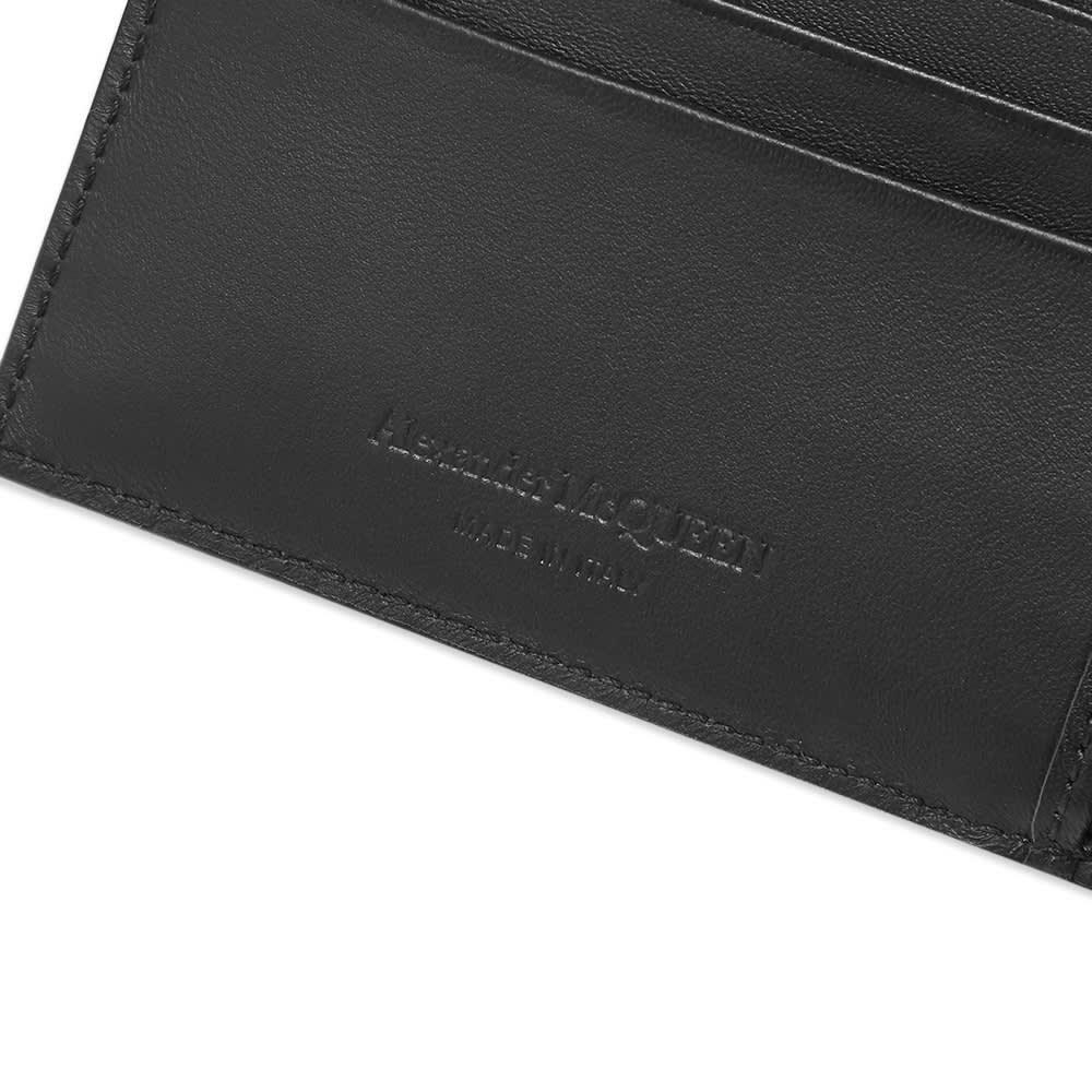 Alexander McQueen 8cc Leather Logo Billfold Wallet - Black