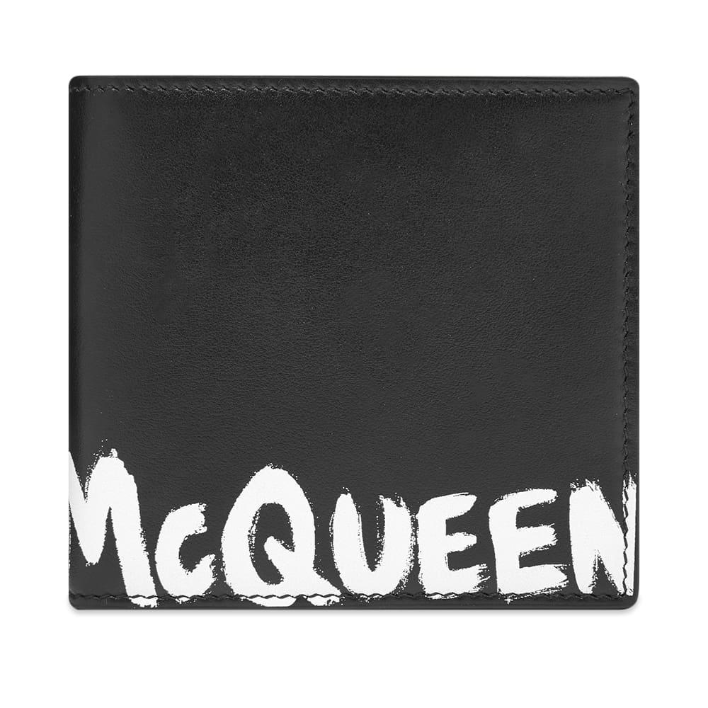 Alexander McQueen Graffiti Billfold Wallet - Black & White
