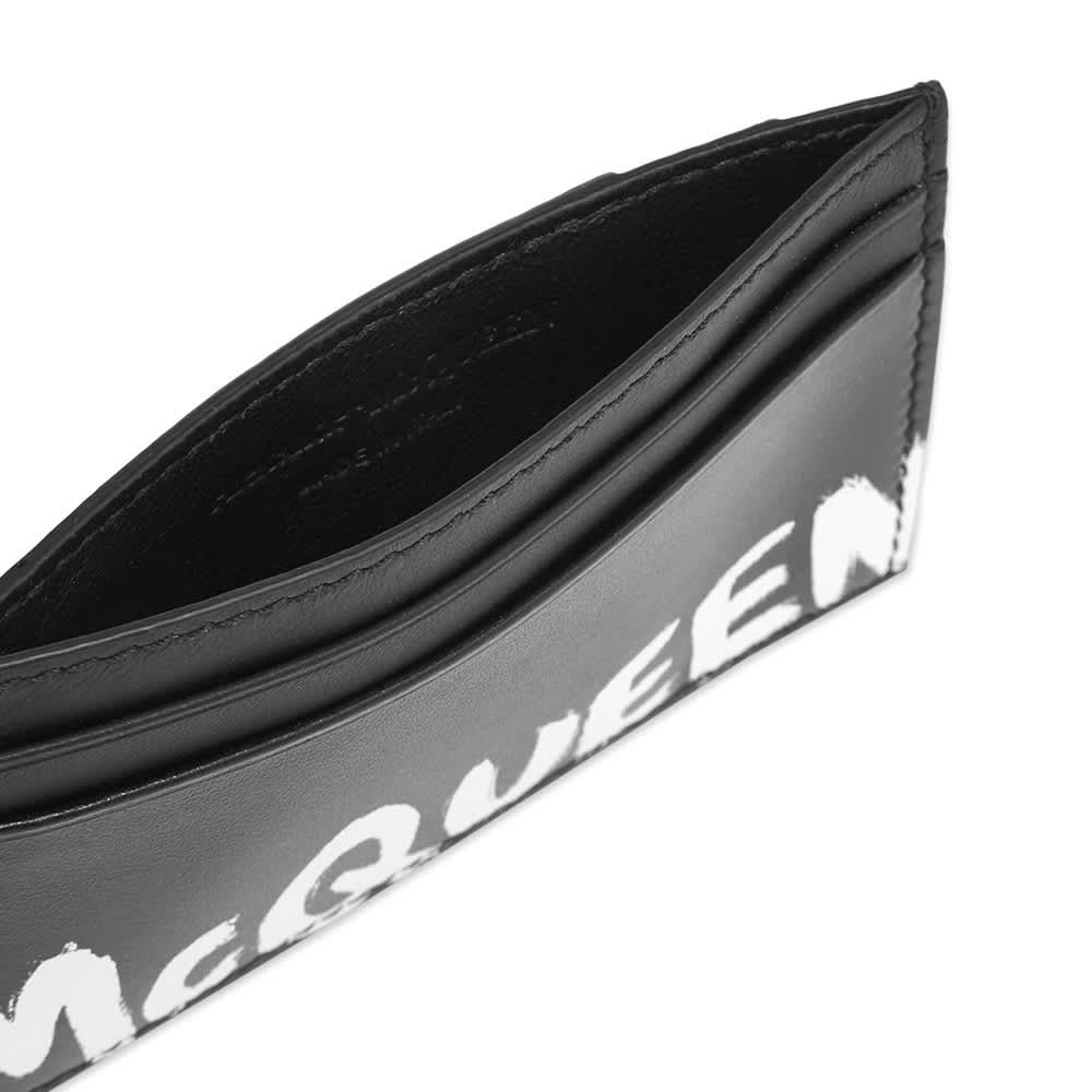 Alexander McQueen Graffiti Card Holder - Black & White