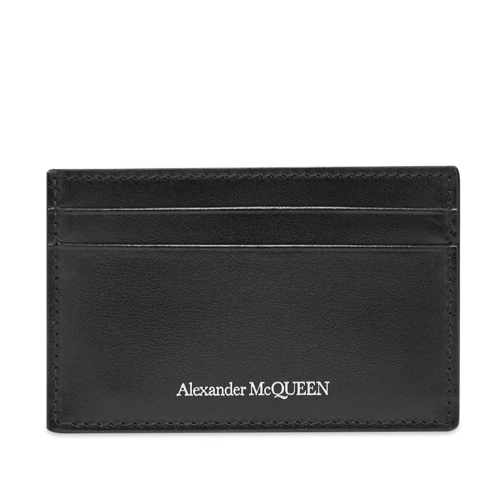 Alexander McQueen Leather Logo Card Holder - Black
