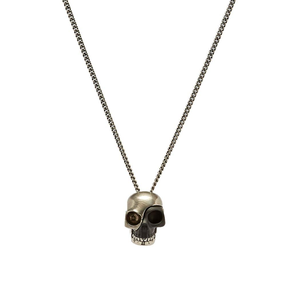 Alexander McQueen Stacked Fragment Skull Necklace - Silver & Black