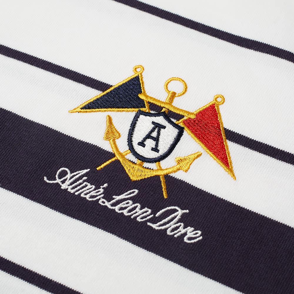 Aimé Leon Dore Embroidered Stripe Tee - Maritime Blue