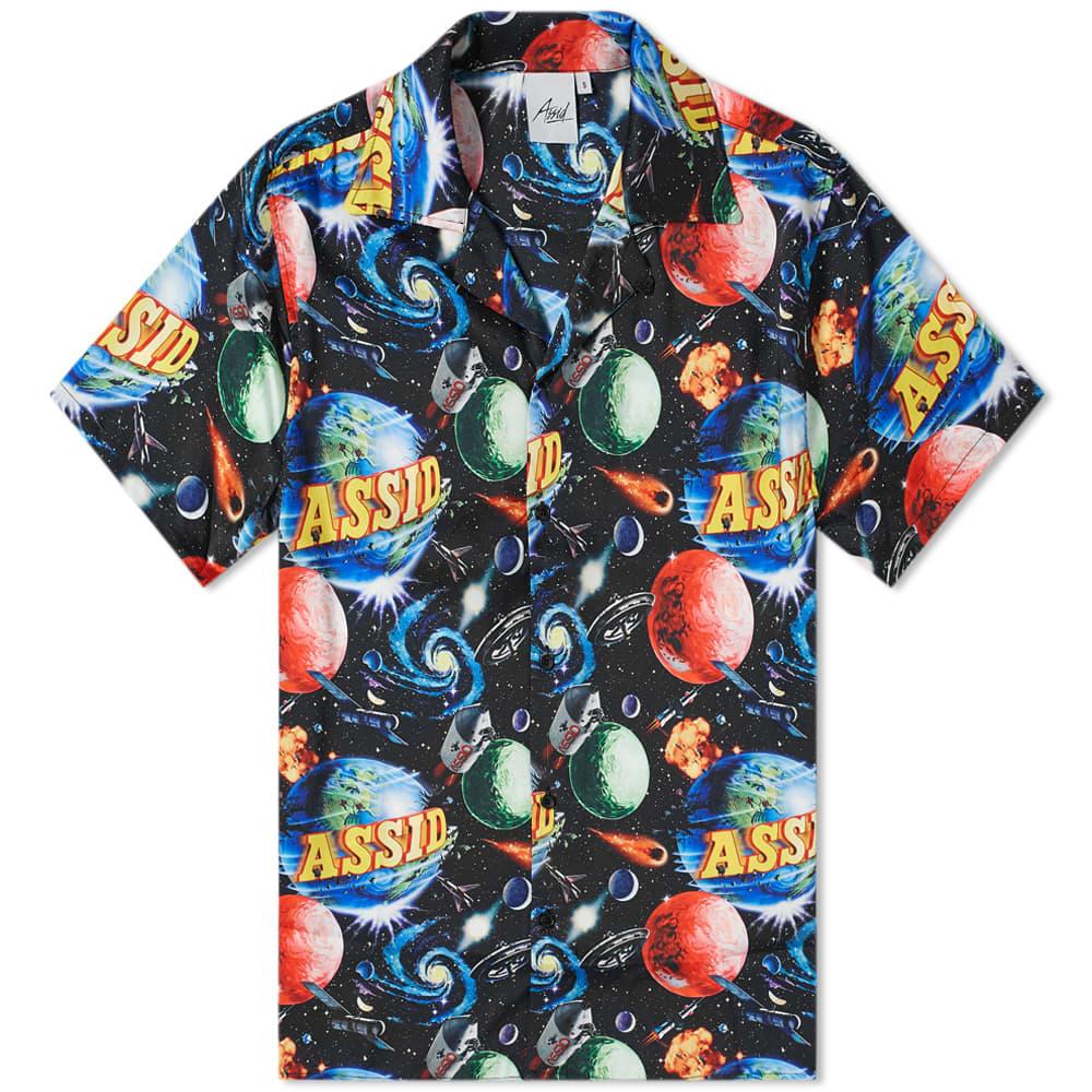 Assid Bad World Hawaiian Shirt - Black & Multi