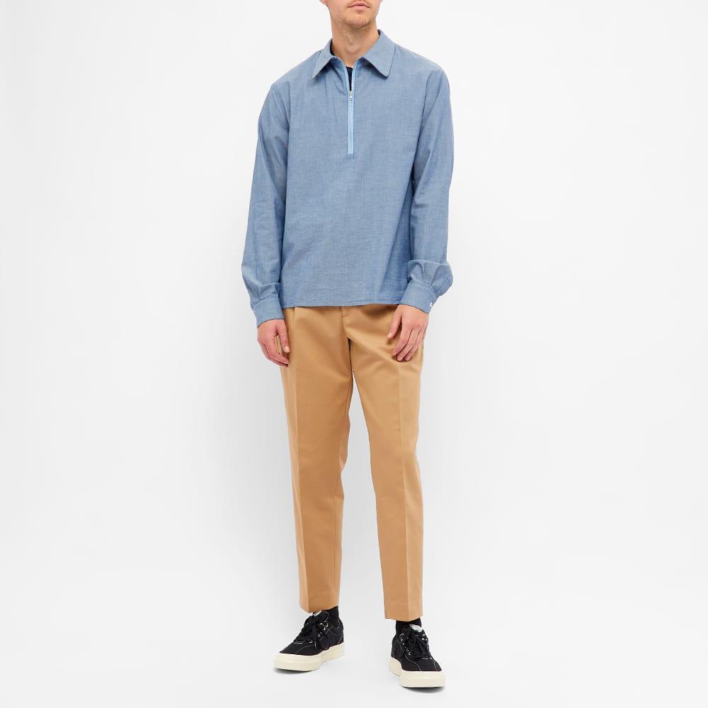 Barena Quarter Zip Shirt - Indigo
