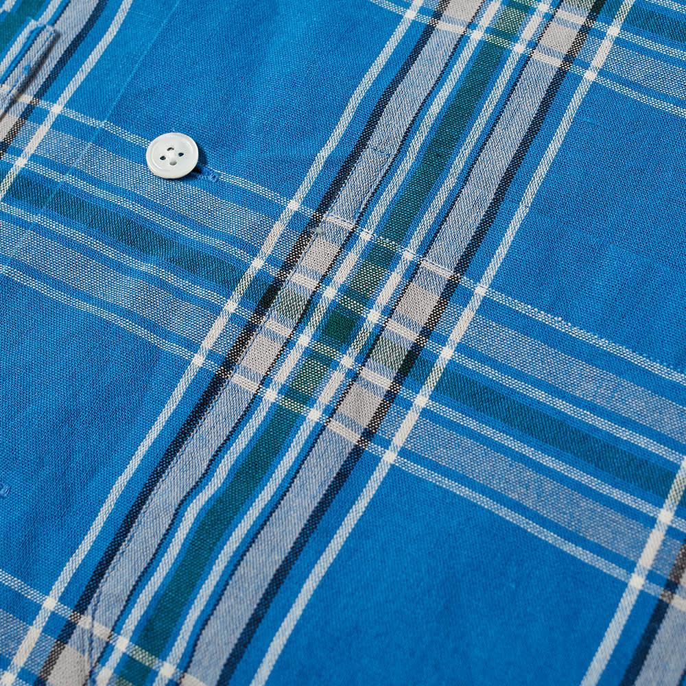 Beams Plus Check Vacation Shirt - Blue