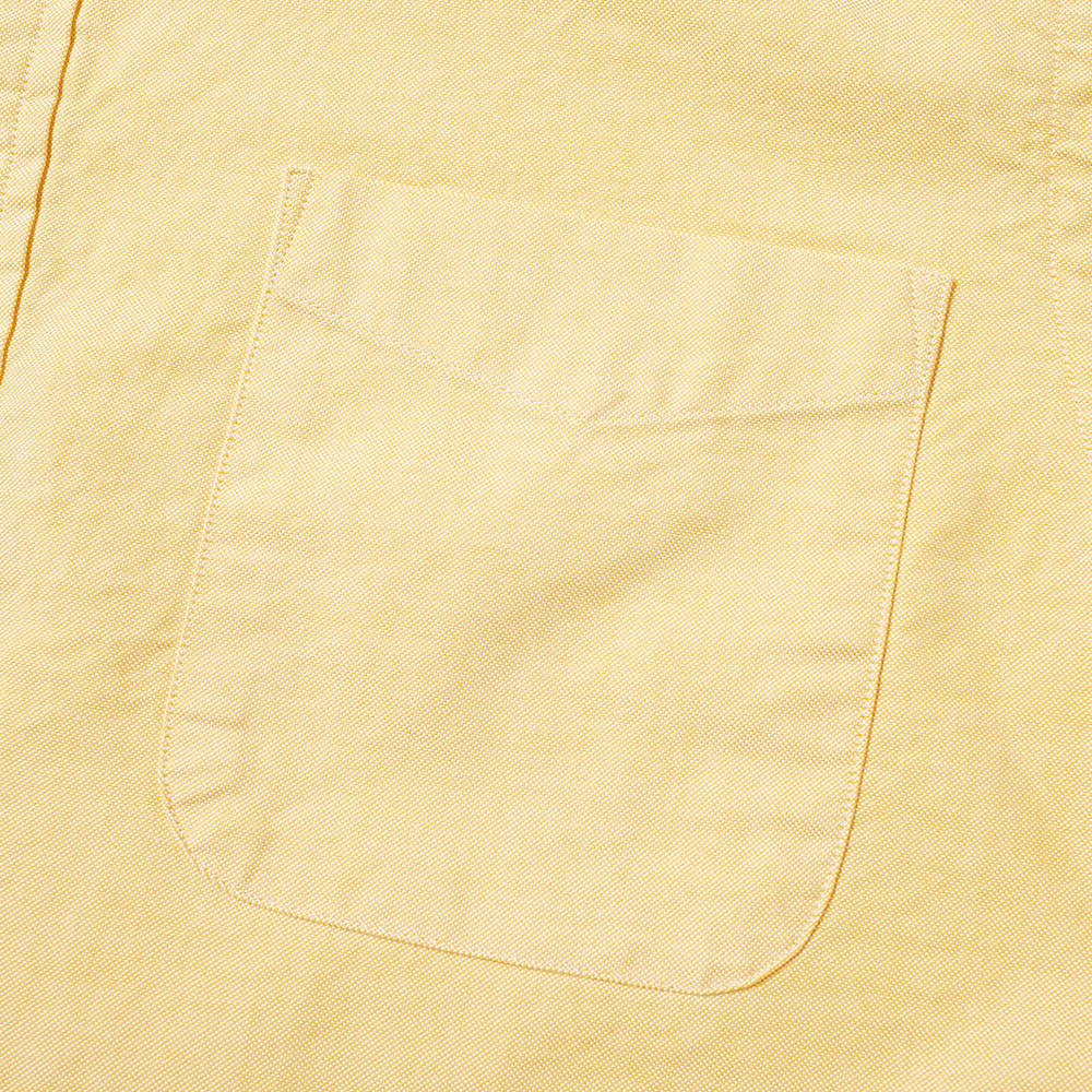 Beams Plus Short Sleeve Popover Shirt - Yellow