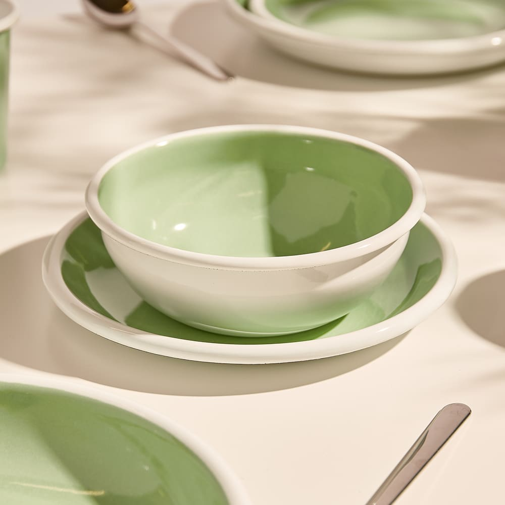 BORNN Enamelware Bloom 16cm Bowl - Mint