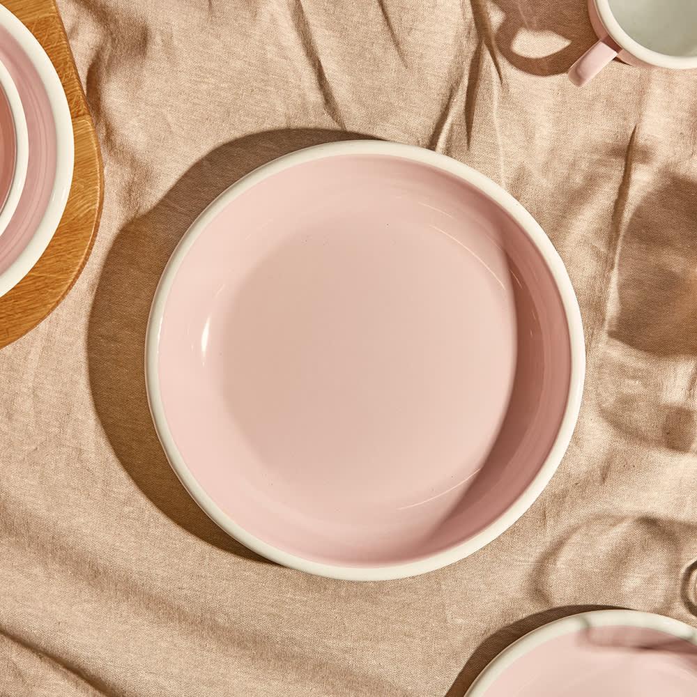 BORNN Enamelware Bloom Large Plate - Powder Pink