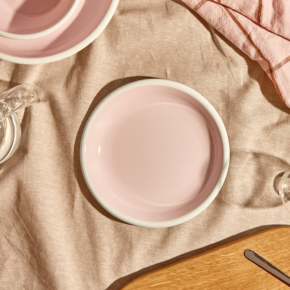 BORNN Enamelware Bloom Small Plate - Powder Pink