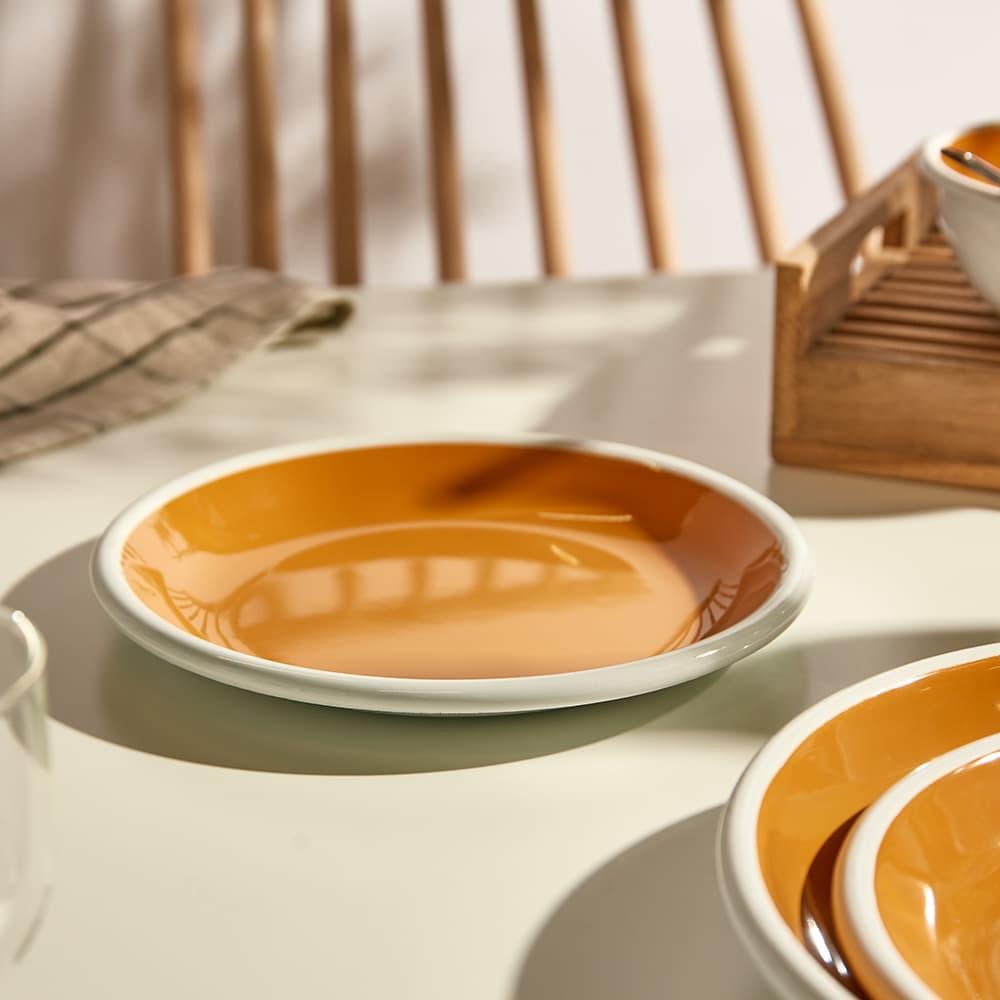 BORNN Enamelware Bloom Small Plate - Orange