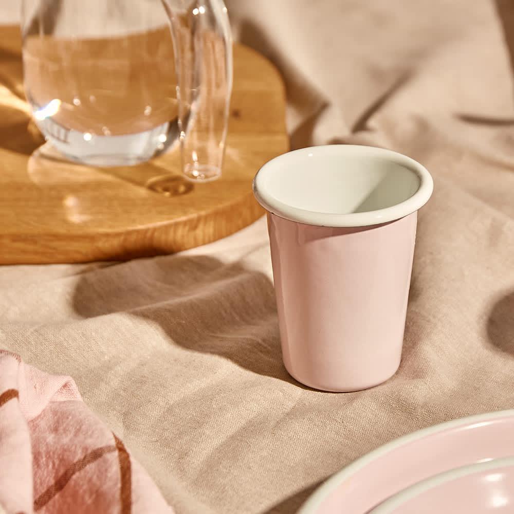 BORNN Enamelware Bloom Small Tumbler - Powder Pink