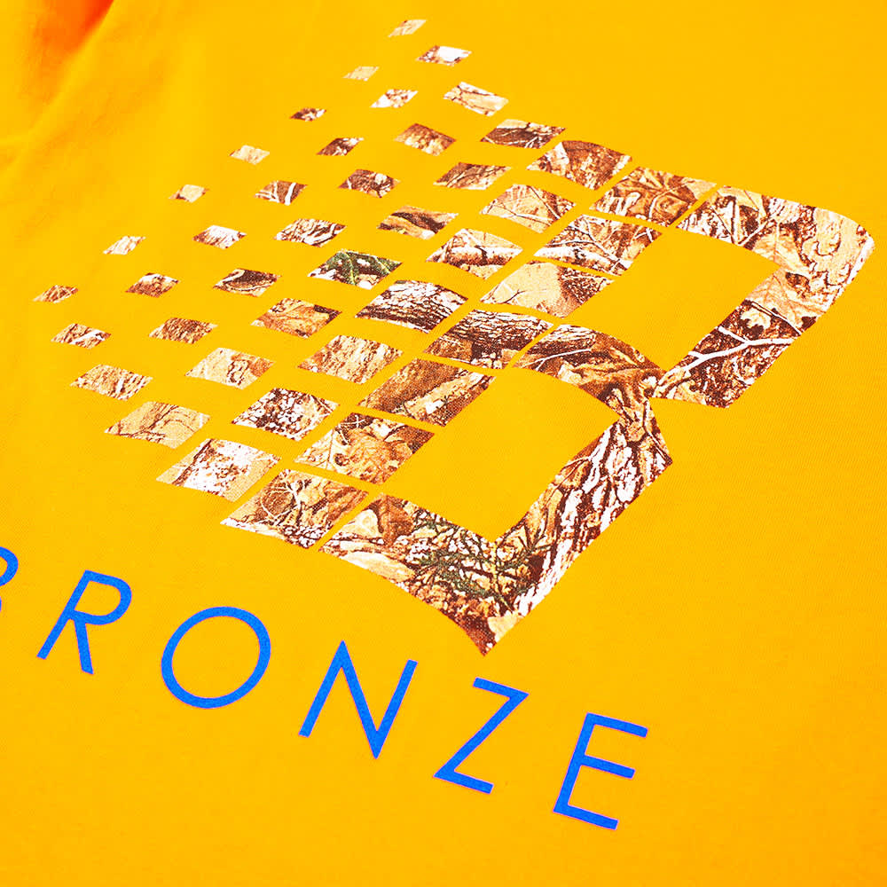 Bronze 56k B Logo Long Sleeve Tee - Orange & Tree Camo