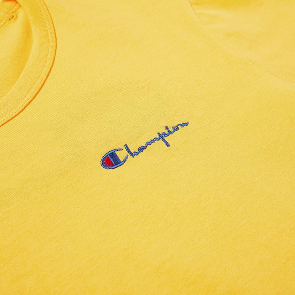 Champion Reverse Weave Script Back Logo Tee - Zinnia Orange