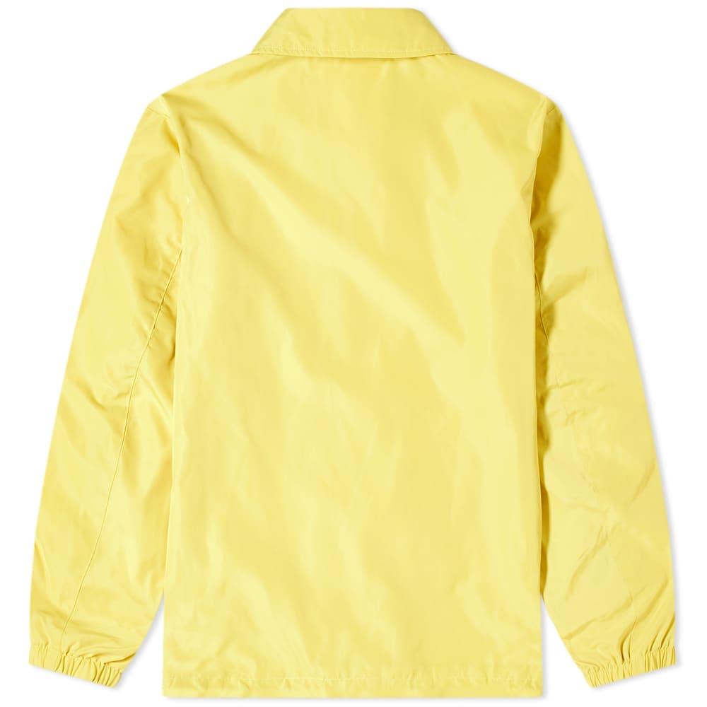 Champion Reverse Weave Script Logo Coach Jacket - Yellow