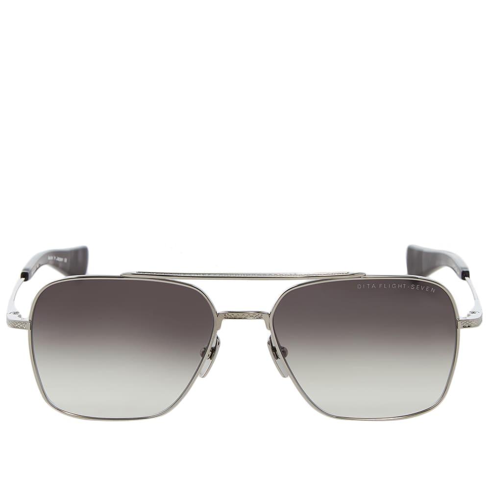 Dita Flight-Seven Sunglasses - Black Palladium & Grey