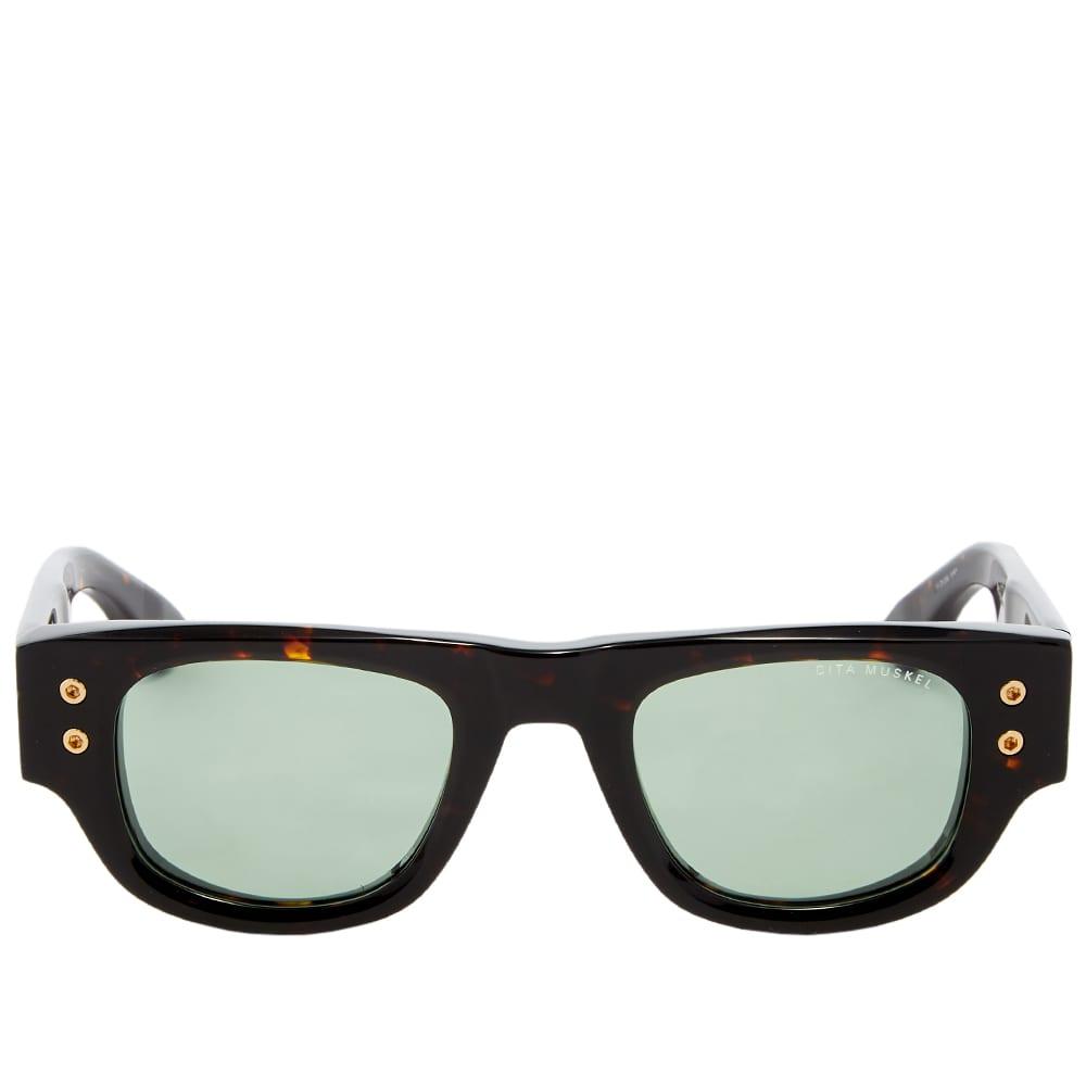 Dita Muskel Sunglasses - Black & Green