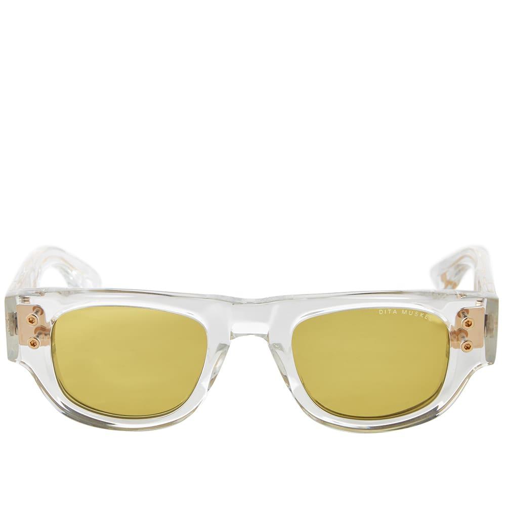Dita Muskel Sunglasses - Crystal & Yellow