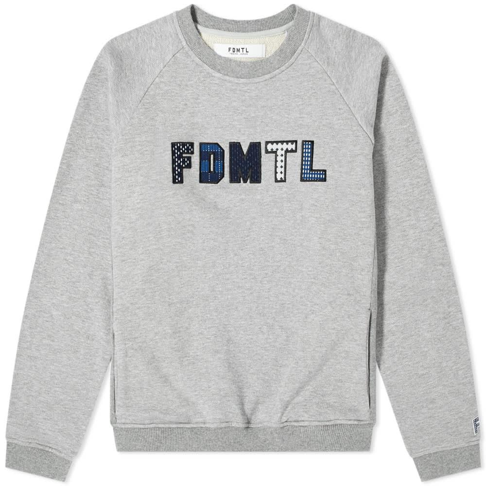 FDMTL Sashiko Logo Crew Sweat - Grey