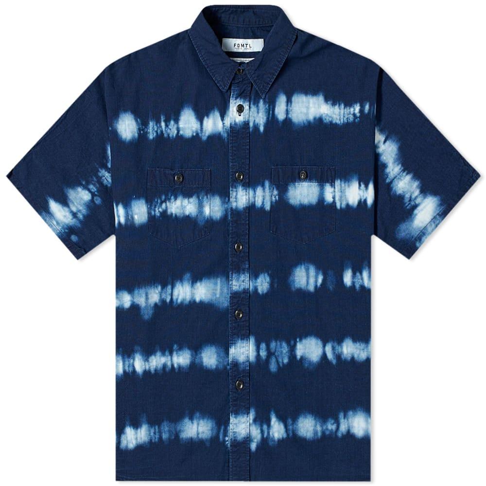FDMTL Short Sleeve Tie Dye Shirt - Indigo