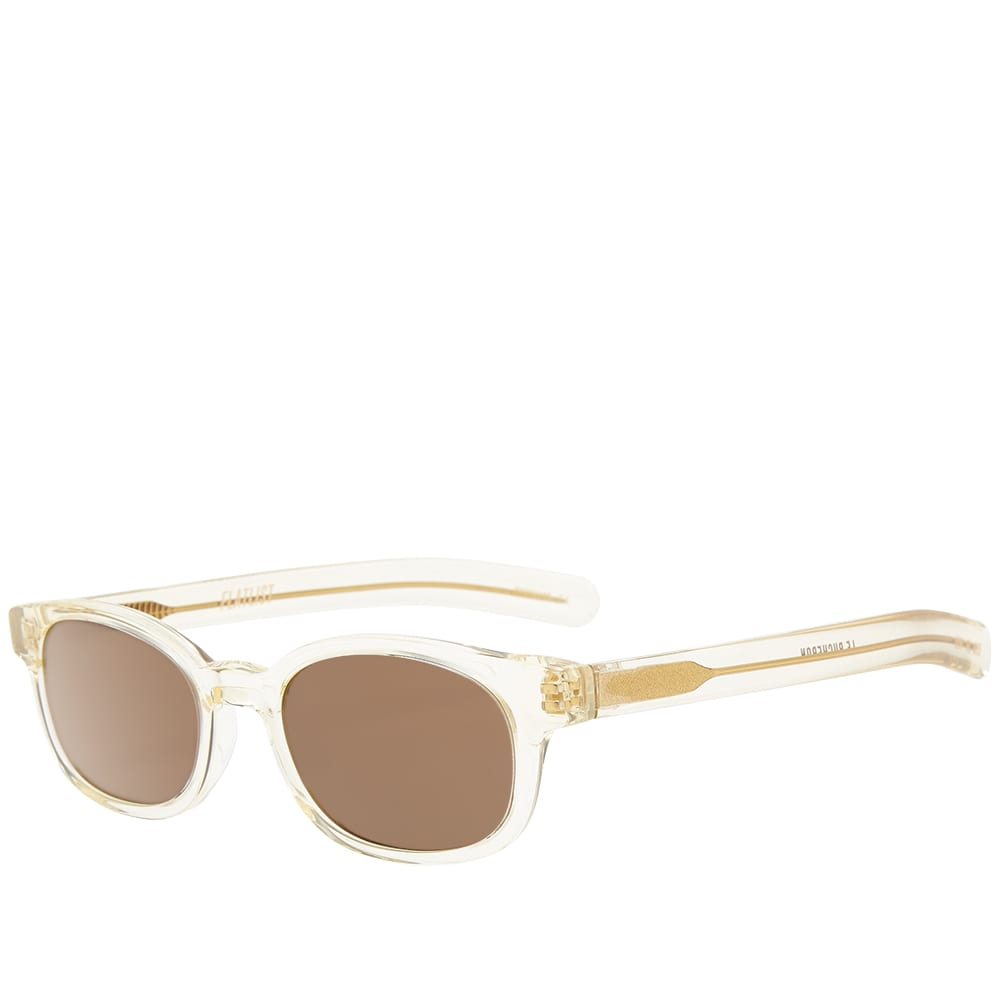 Flatlist Le Bucheron Sunglasses - Crystal Yellow & Brown