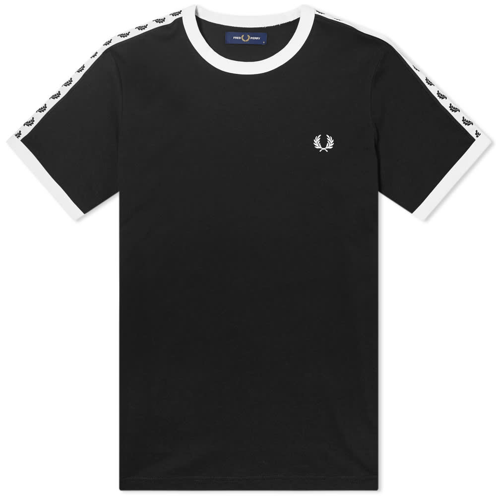 Fred Perry Taped Ringer Tee - Black