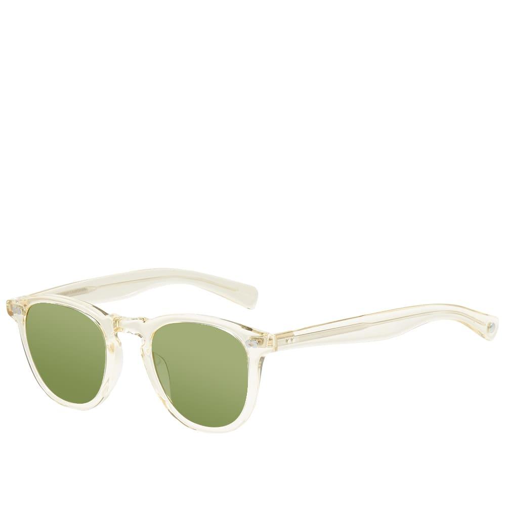 Garrett Leight Hampton X 46 10th Anniversary Limited Edition Sunglasses - Pure Glass & Pure Green