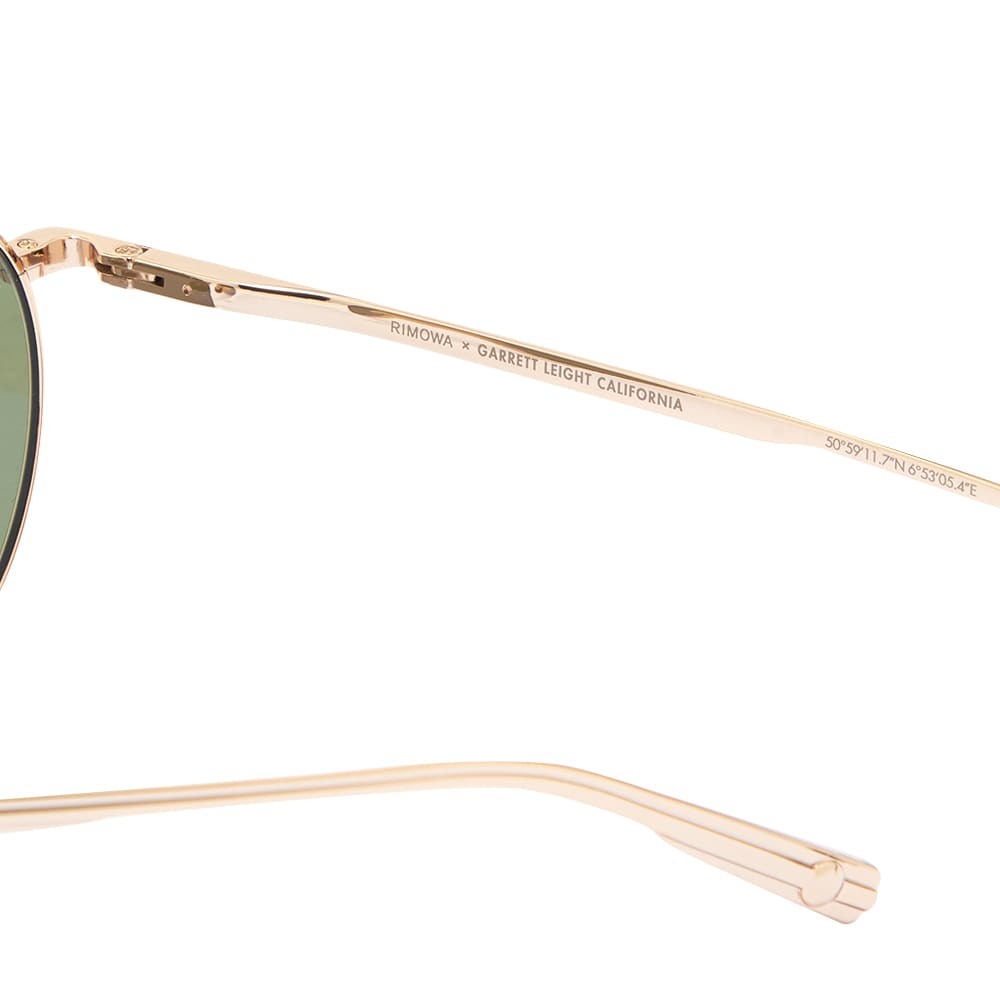 Garrett Leight x RIMOWA GLCO M 49 Sunglasses - Gold & Semi Flat Green