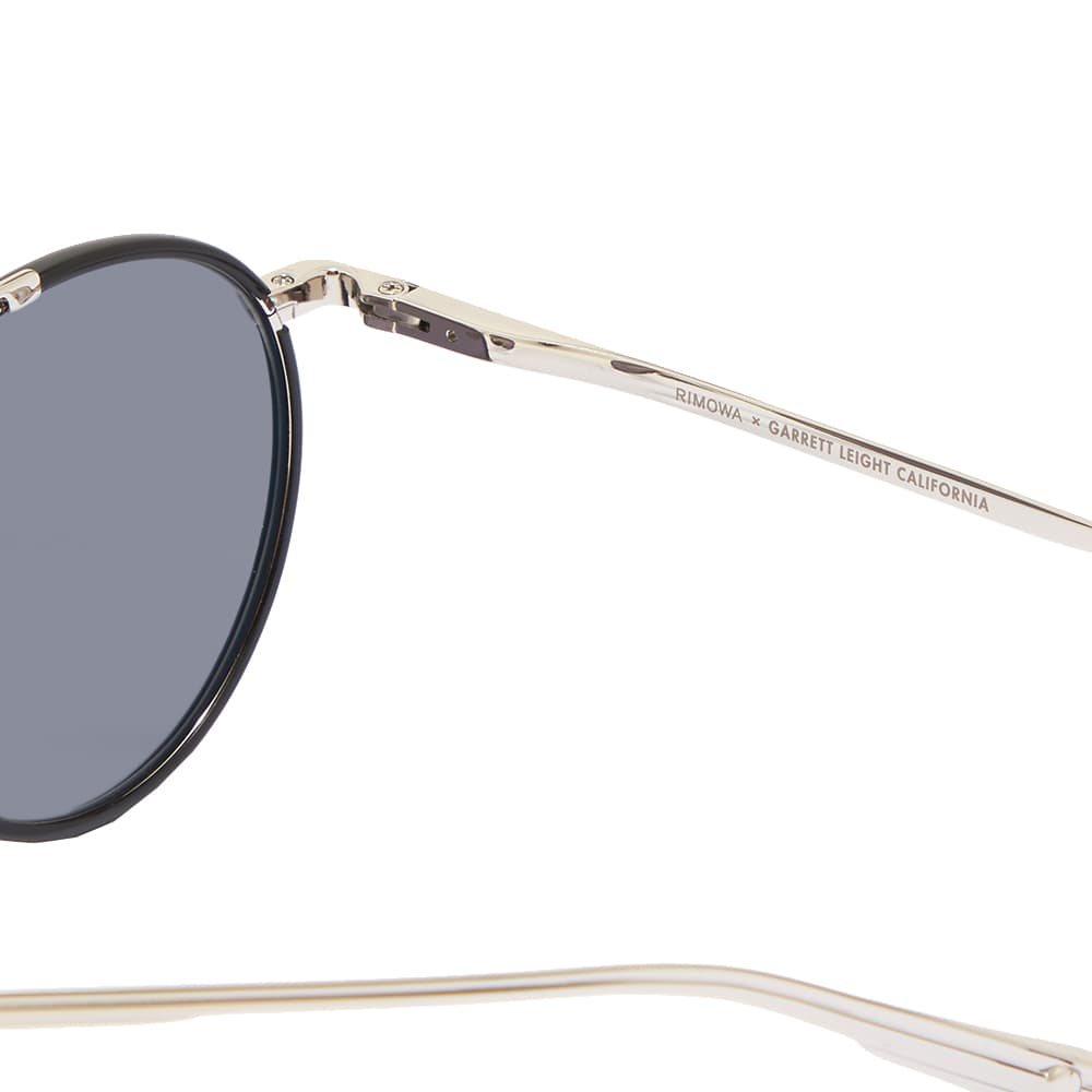 Garrett Leight x RIMOWA GLCO M 49 Sunglasses - Black Silver & Semi Black