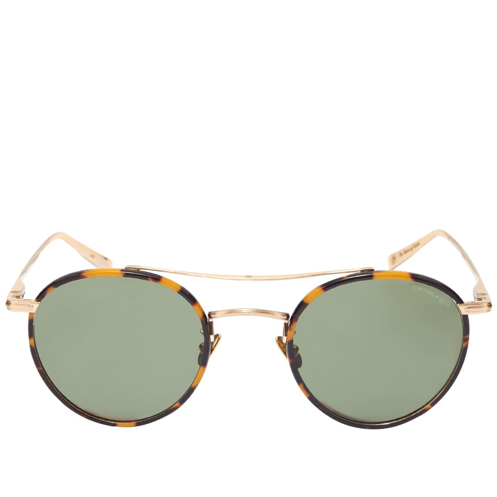 Garrett Leight x RIMOWA GLCO M 49 Sunglasses - Tokyo Tortoise, Gold & Green