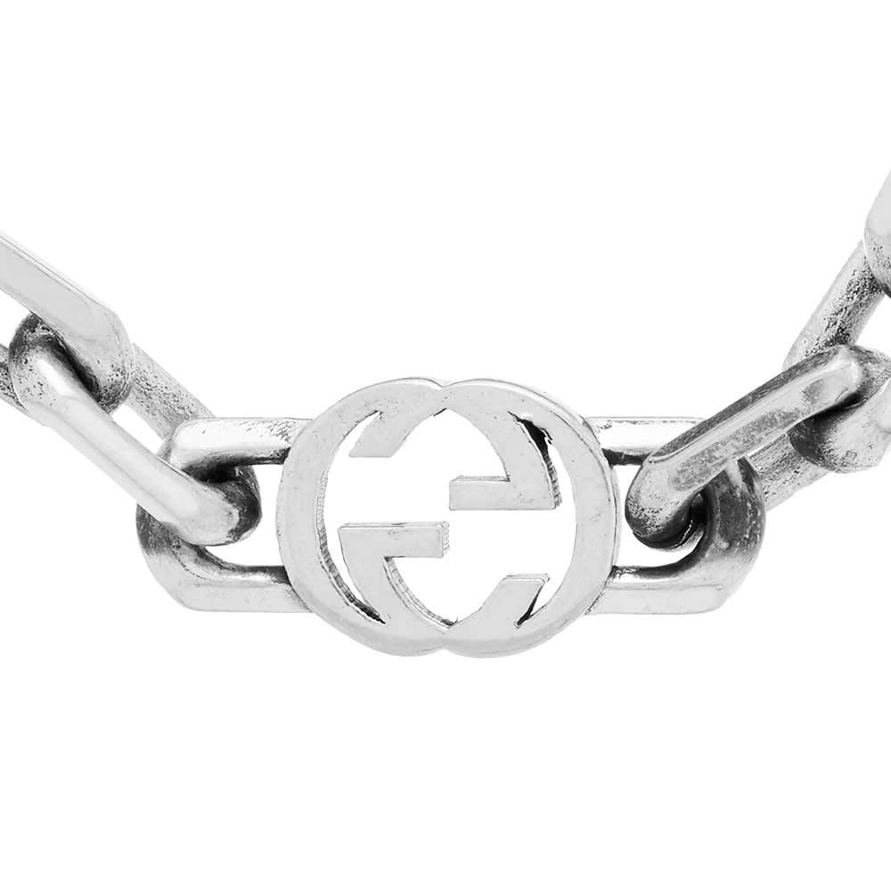 Gucci Interlocking G 60cm Necklace - Aged Sterling Silver