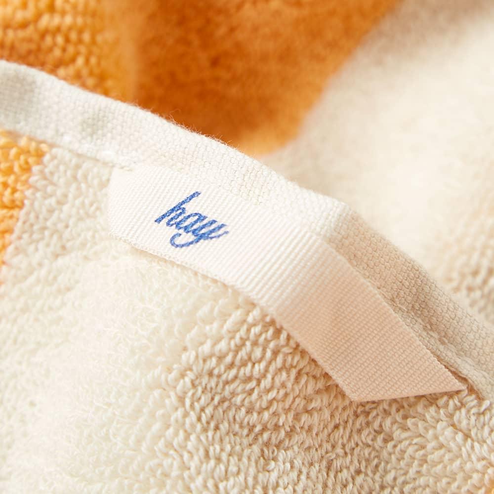 HAY Frotté Striped Bath Towel - Warm Yellow