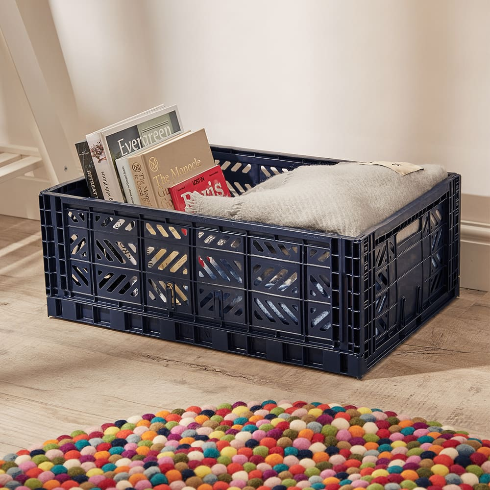 HAY Large Colour Crate - Navy