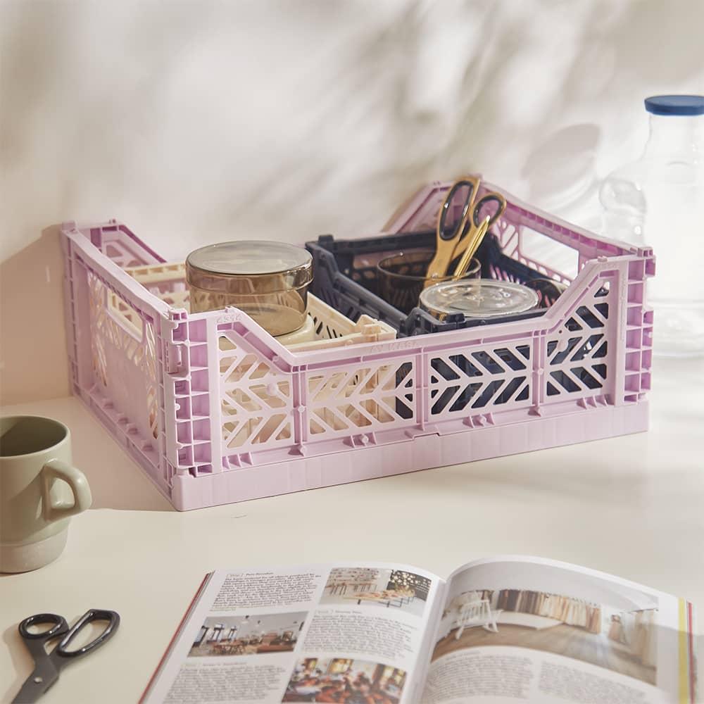 HAY Medium Colour Crate - Lavender