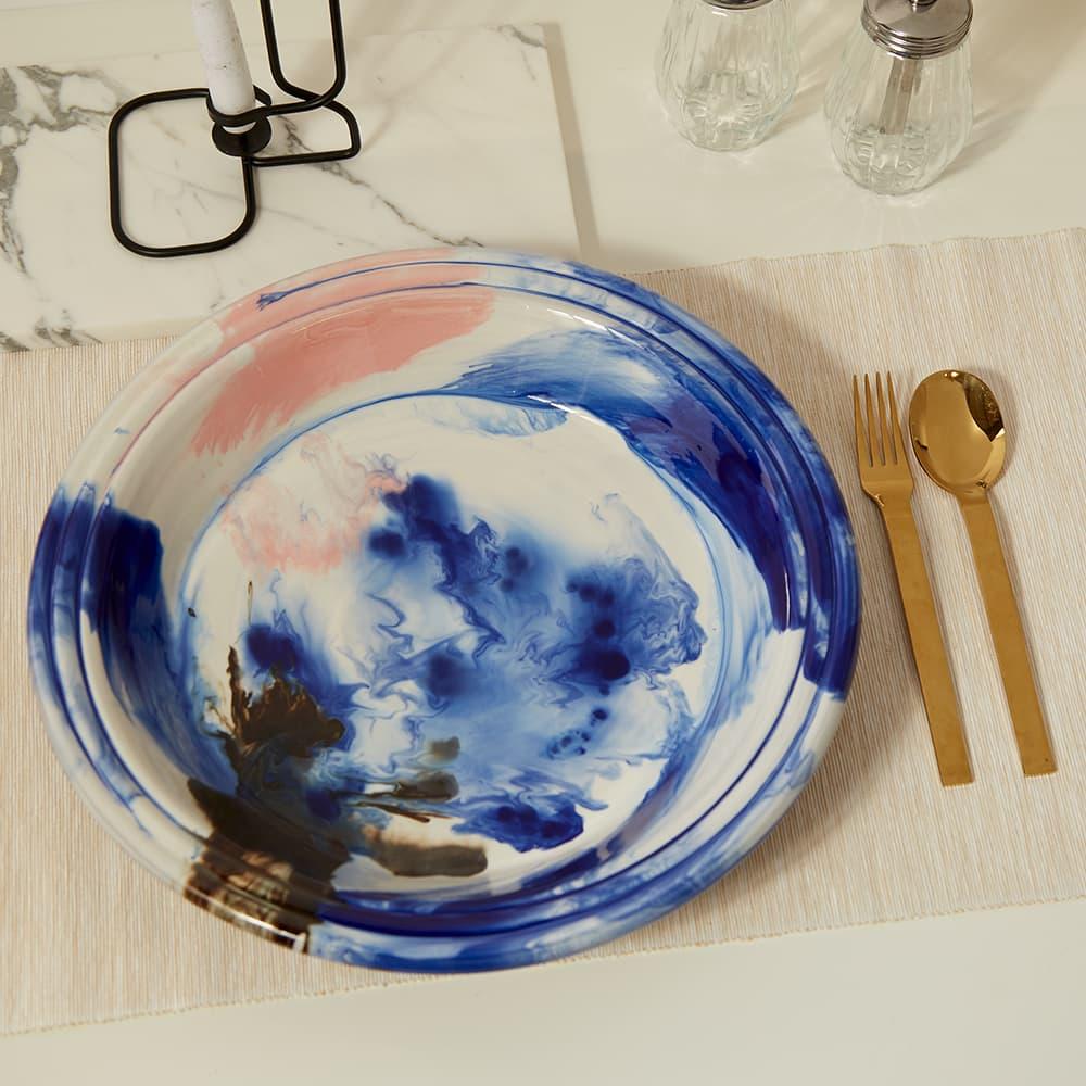 HAY Swirl Bowl - Multi Blue
