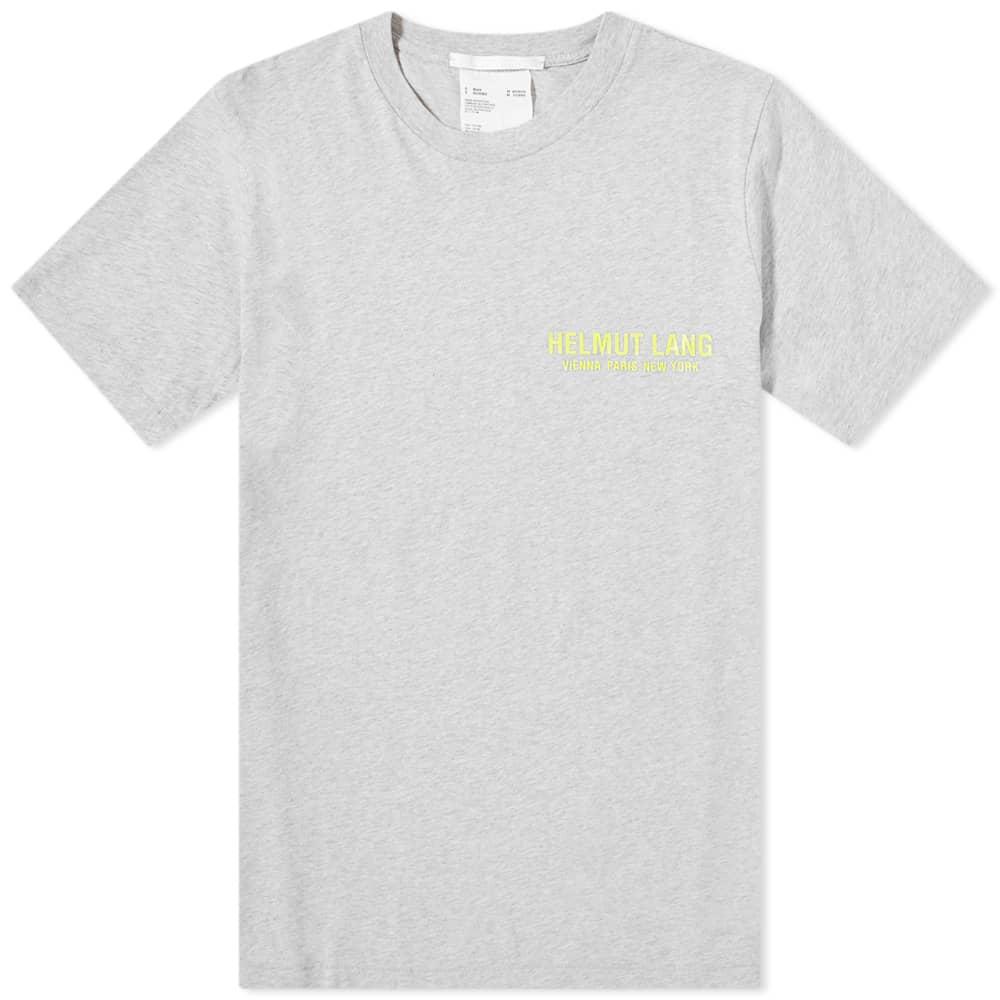Helmut Lang Neon Logo Tee - Grey