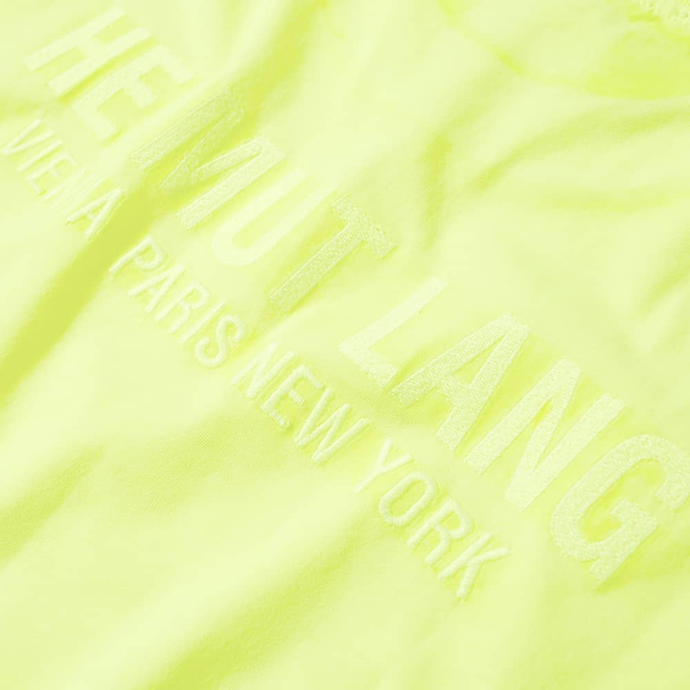 Helmut Lang Neon Logo Tee - Yellow
