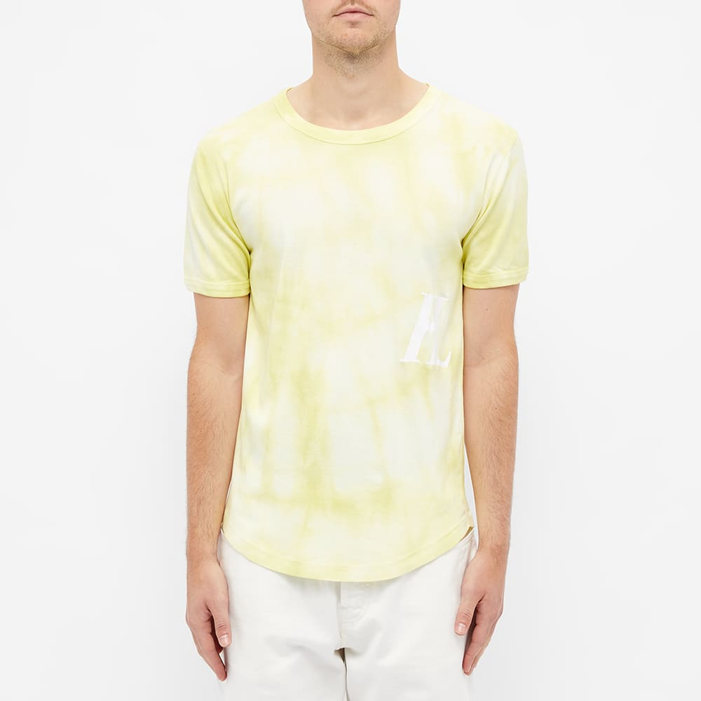 Helmut Lang Tie Dye Monogram Tee - Sodium Yellow Batik