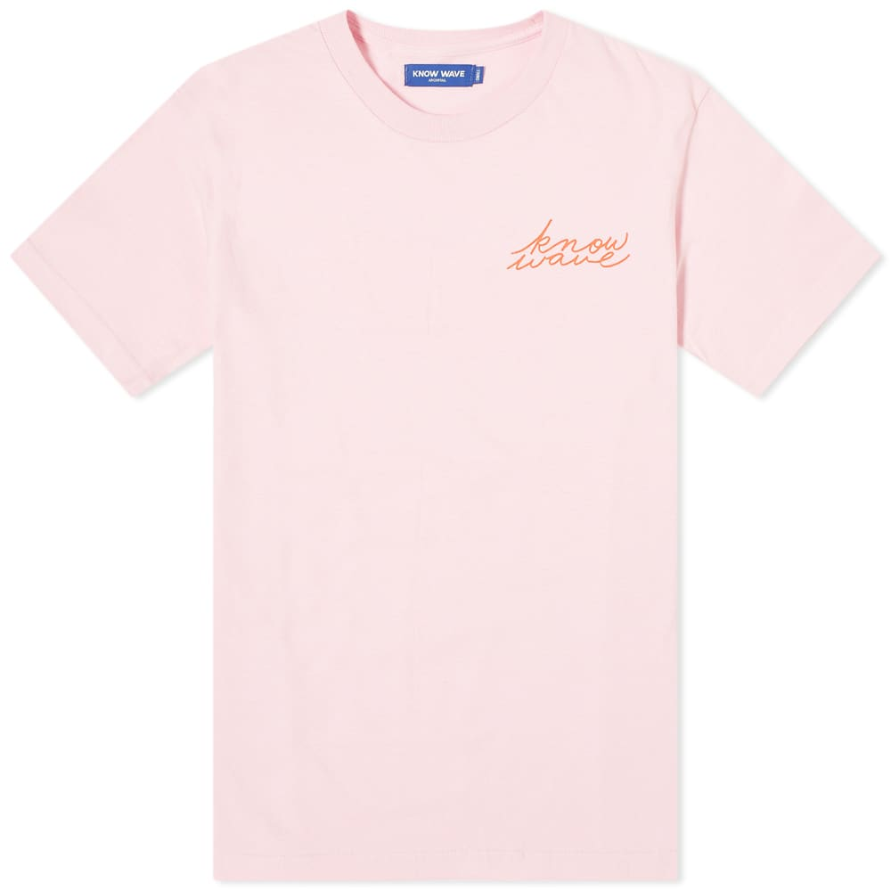 Know Wave Signature Tee - Pink