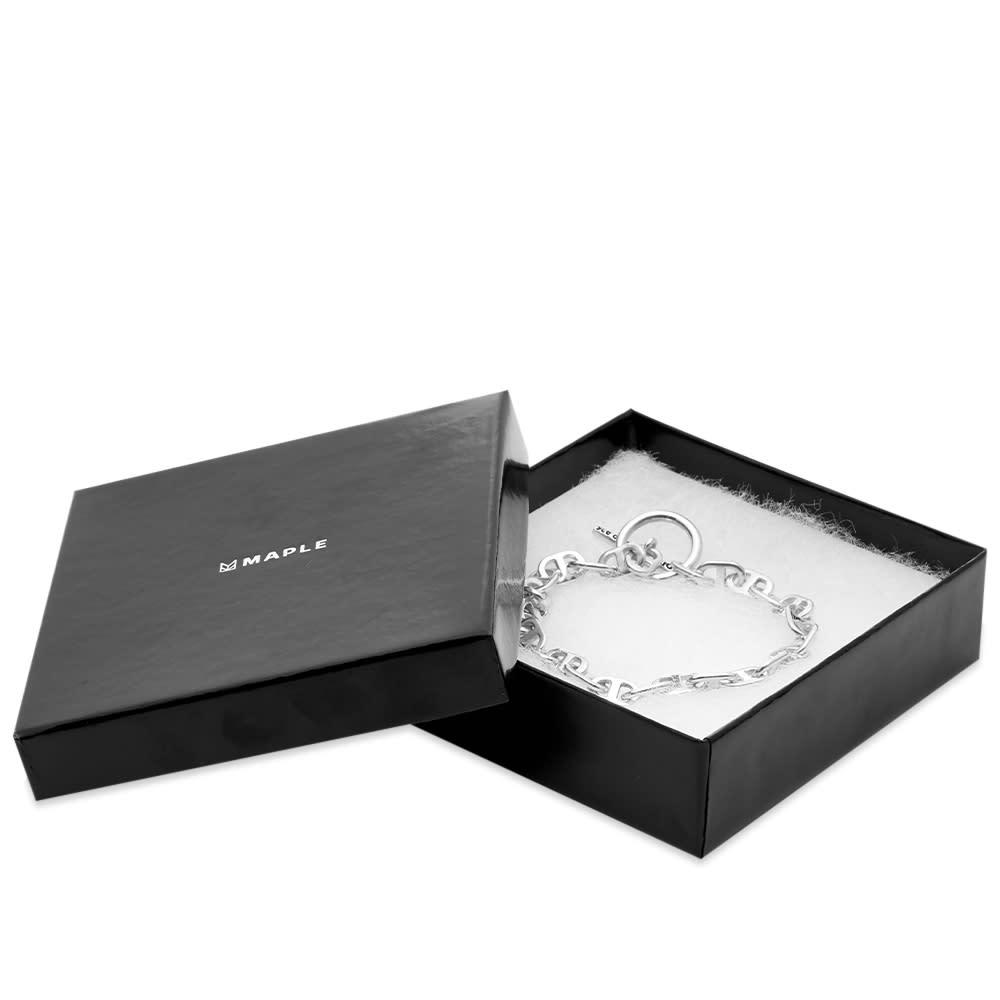 Maple Chain Link Bracelet 7mm - Silver