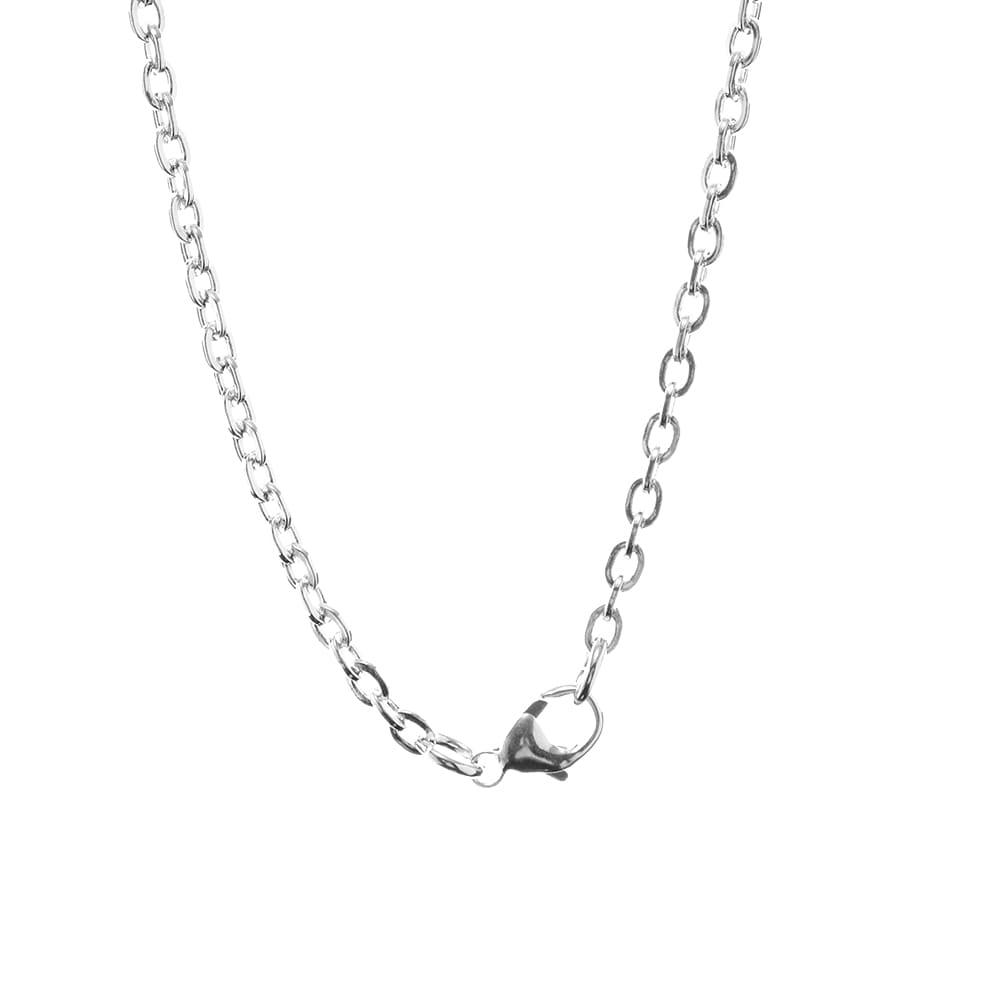 Maple The Cat Chain 60cm - Silver