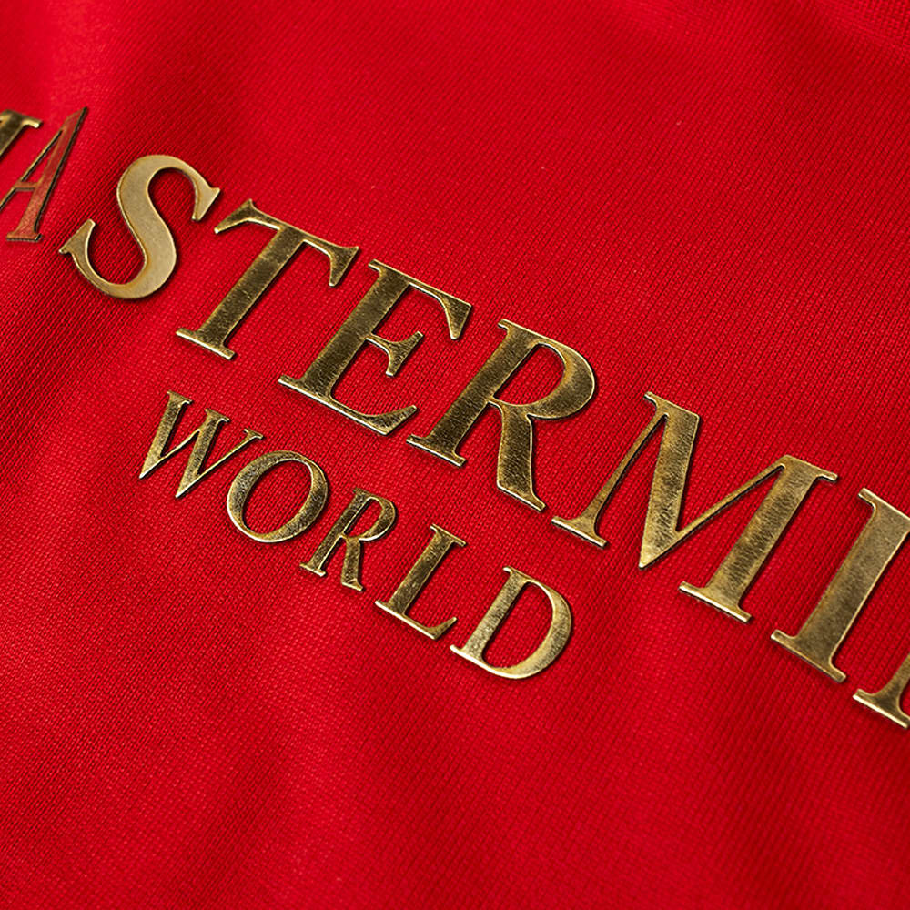 MASTERMIND WORLD Foil Logo Popover Hoody - Red
