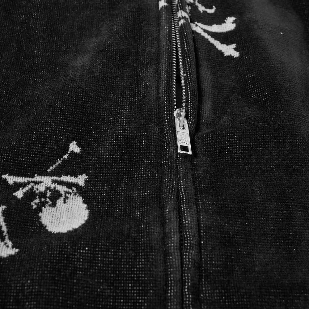 MASTERMIND WORLD Monogram Skull Towelling Jacket - Black
