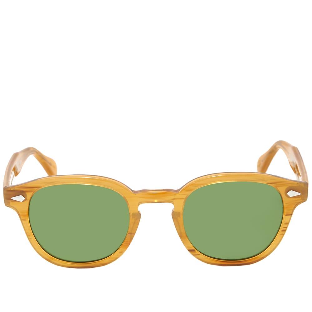 Moscot Lemtosh Sunglasses - Blonde & Green