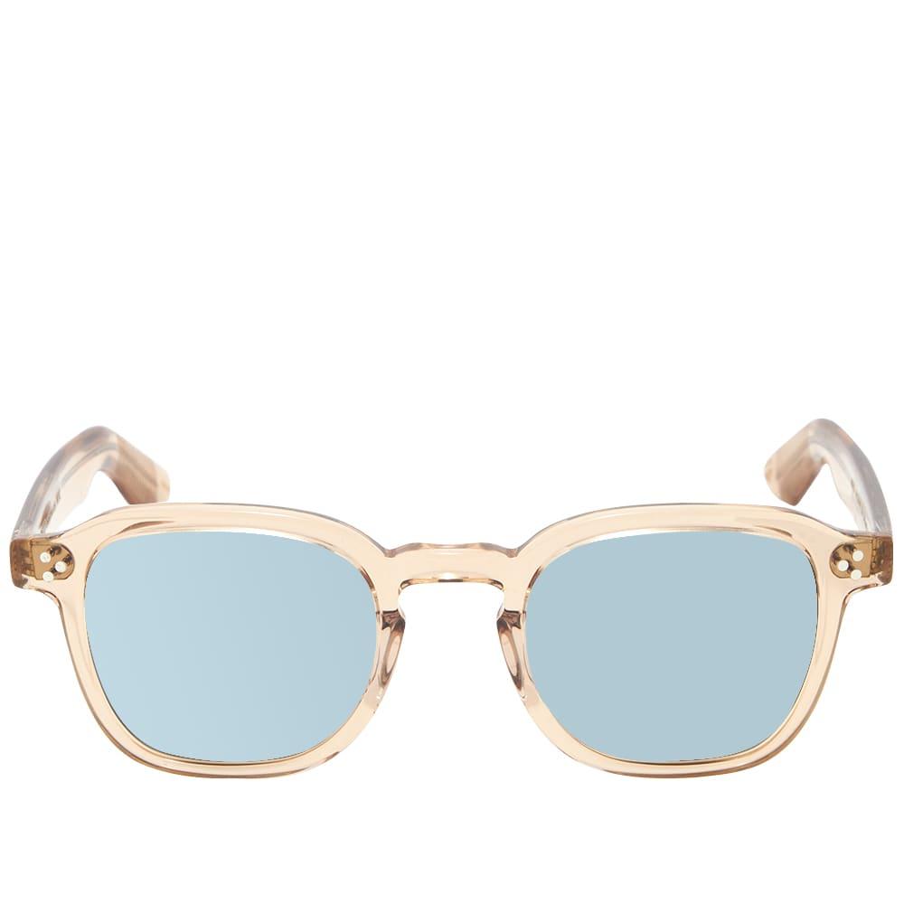 Moscot Momza Sunglasses - Blue & Cinnamon