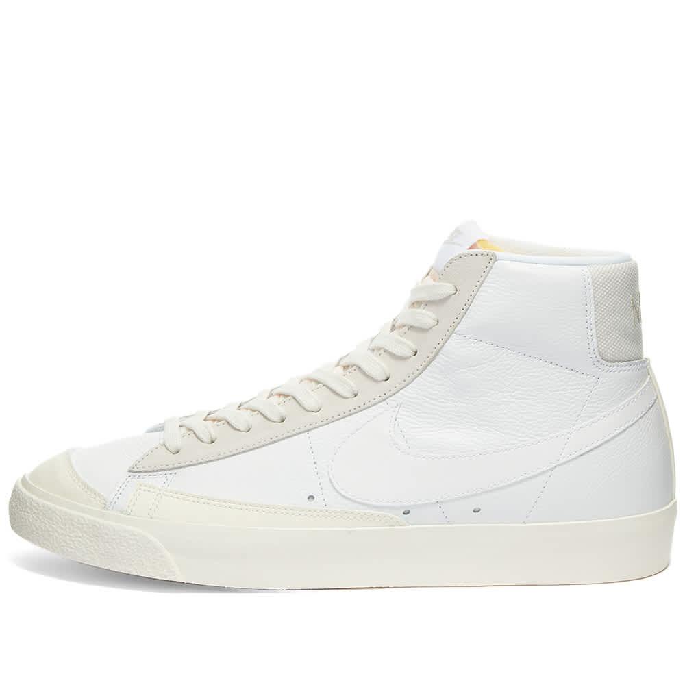 nike blazer mid white leather