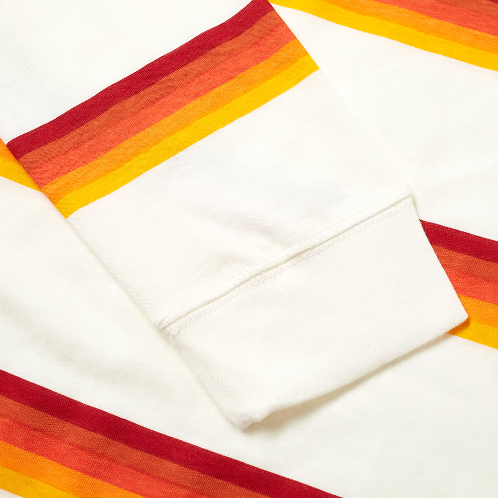 Nike SB Long Sleeve Stripe Tee - Sail, Orange & Red