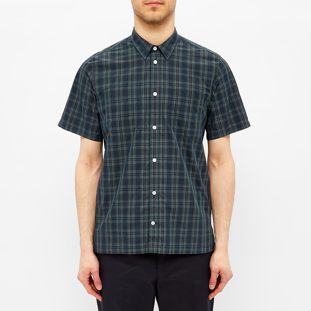 Norse Projects Short Sleeve Oscar Cotton Nylon Shirt - Dark Navy