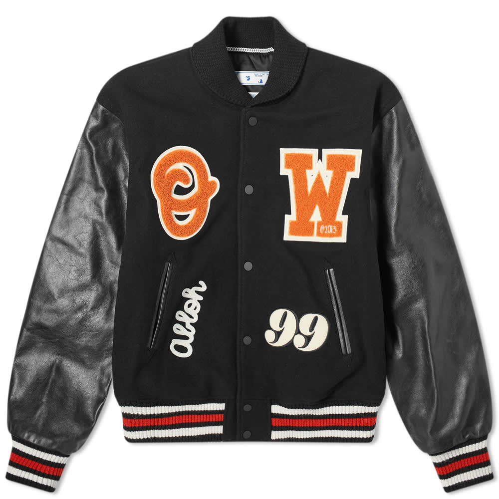 Off-White Barrel Leather Varsity Jacket